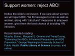 support women reject abc