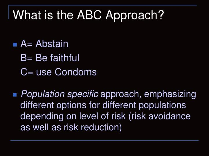 What Is The ABC Approach