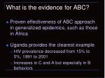 what is the evidence for abc
