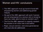 women and hiv conclusions