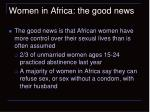 women in africa the good news