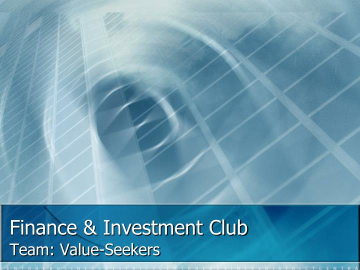 finance investment club n.