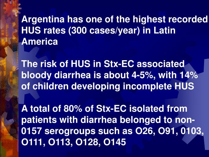 Argentina has one of the highest recorded