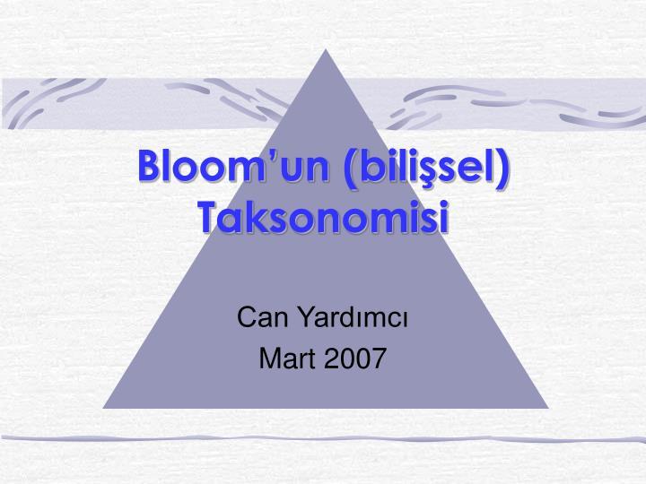 bloom un bili sel taksonomisi n.
