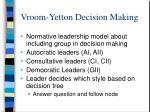 vroom yetton decision making