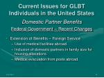 current issues for glbt individuals in the united states11