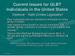 current issues for glbt individuals in the united states16