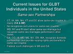 current issues for glbt individuals in the united states6