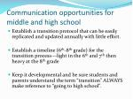 communication opportunities for middle and high school16