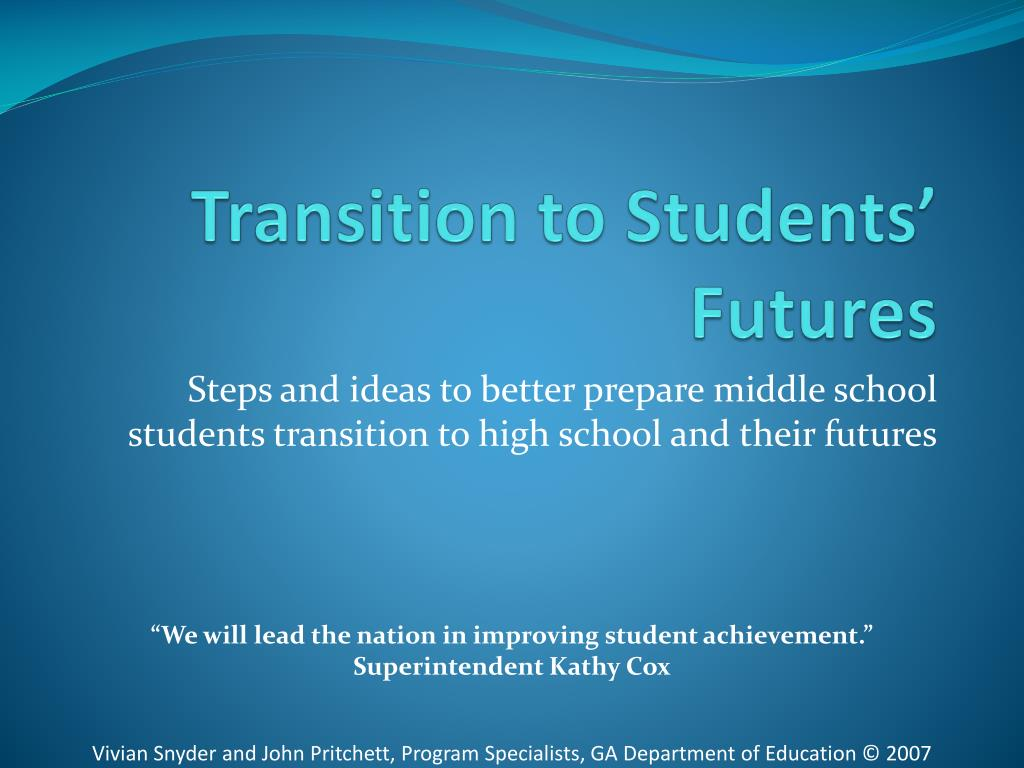transition to students futures l.