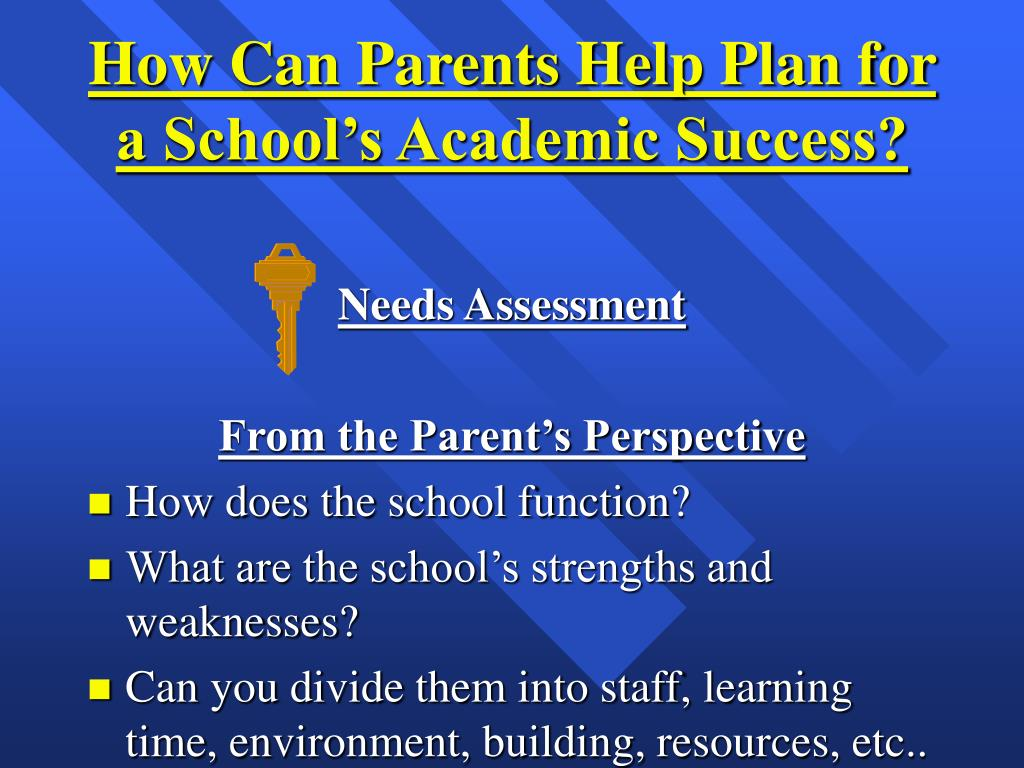 How Can Parents Help Plan for a School's Academic Success?