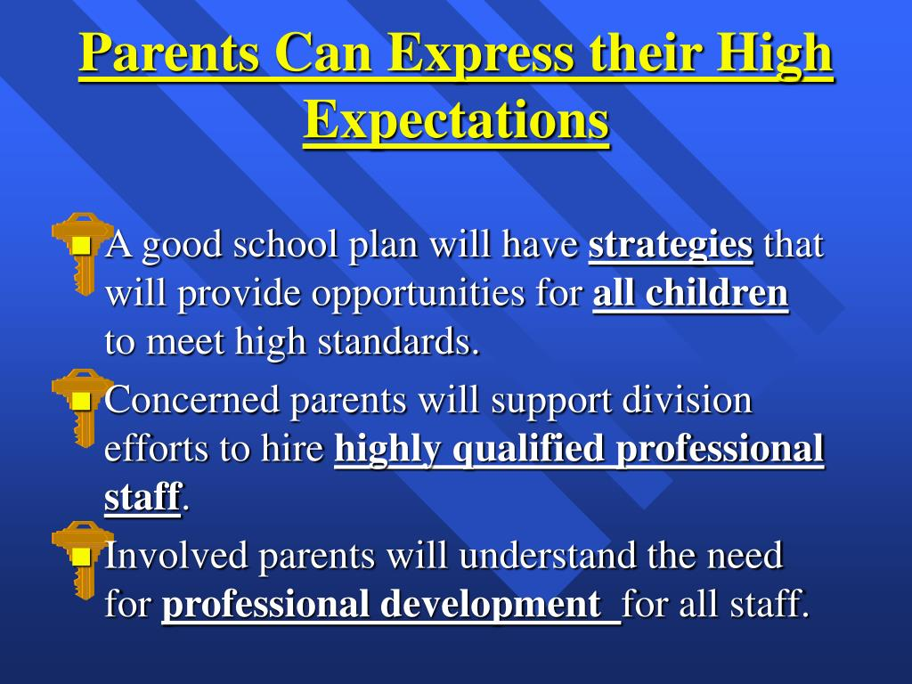 Parents Can Express their High Expectations