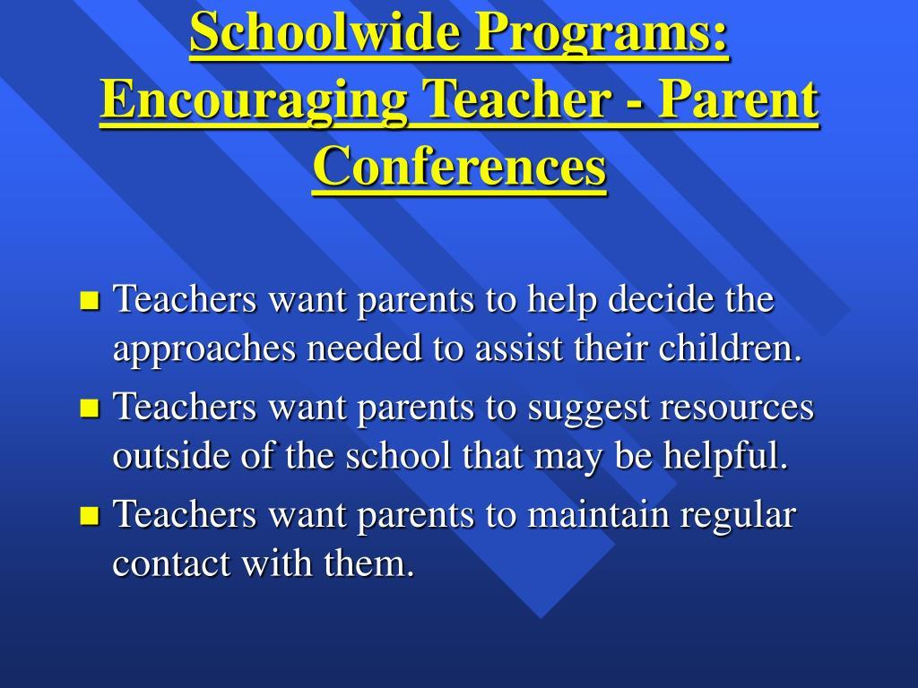 Schoolwide Programs: