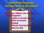 schoolwide programs serving needs of all children