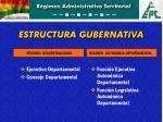 estructura gubernativa