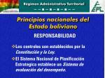 principios nacionales del estado boliviano1