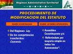 procedimiento de modificacion del estatuto