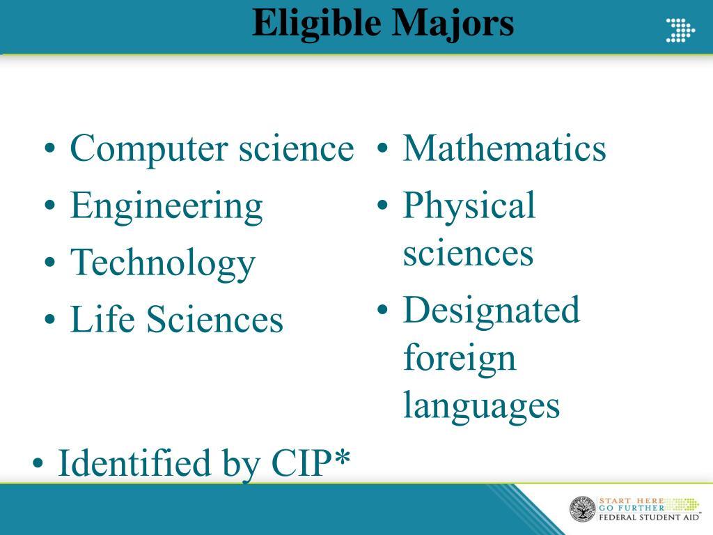 Eligible Majors