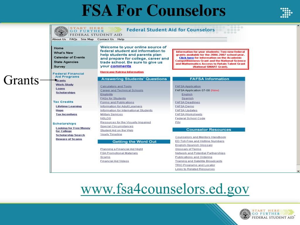 FSA For Counselors