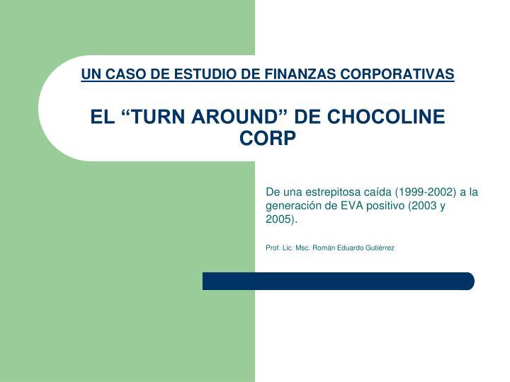 un caso de estudio de finanzas corporativas el turn around de chocoline corp n.