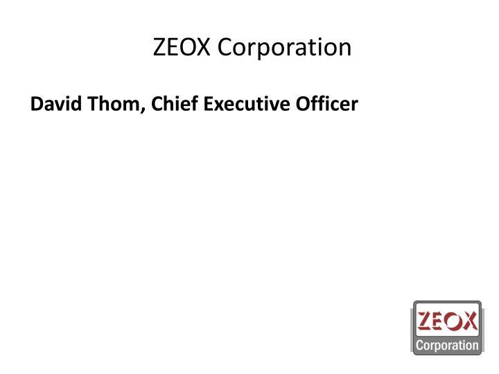 zeox corporation n.