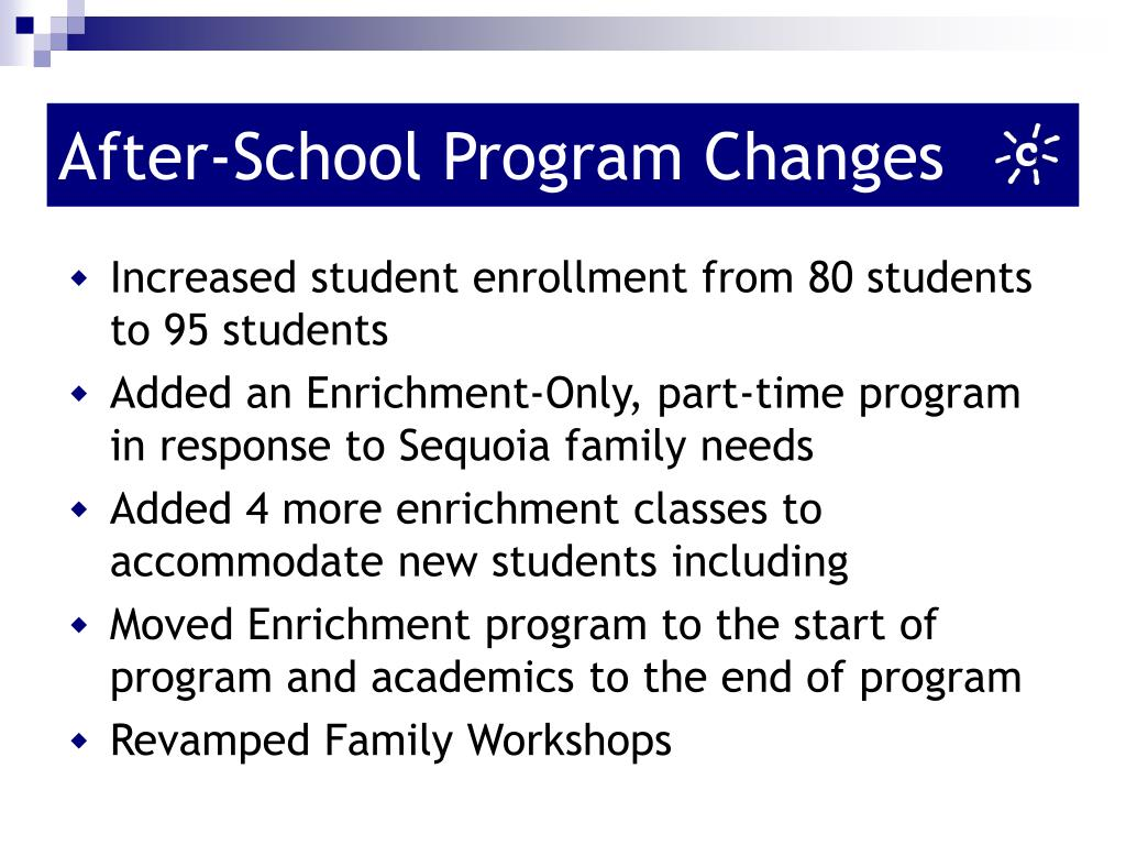 After-School Program Changes