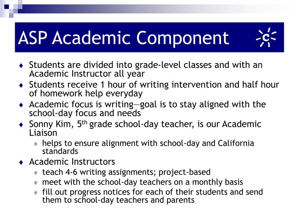 ASP Academic Component