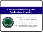 charter schools program application training