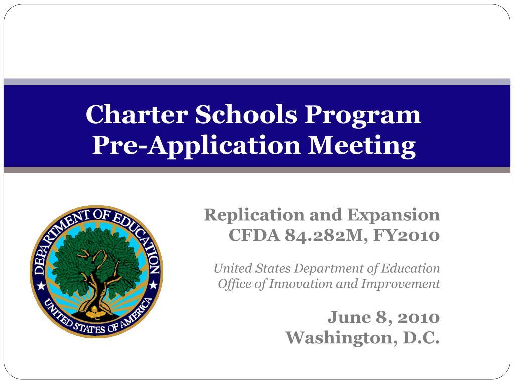 charter schools program pre application meeting l.