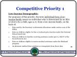 competitive priority 125
