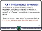csp performance measures12