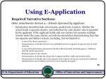 using e application50