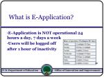 what is e application60