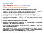 best practices rabi abhiyan 2009