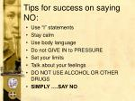 tips for success on saying no