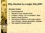 why alcohol is a major killer