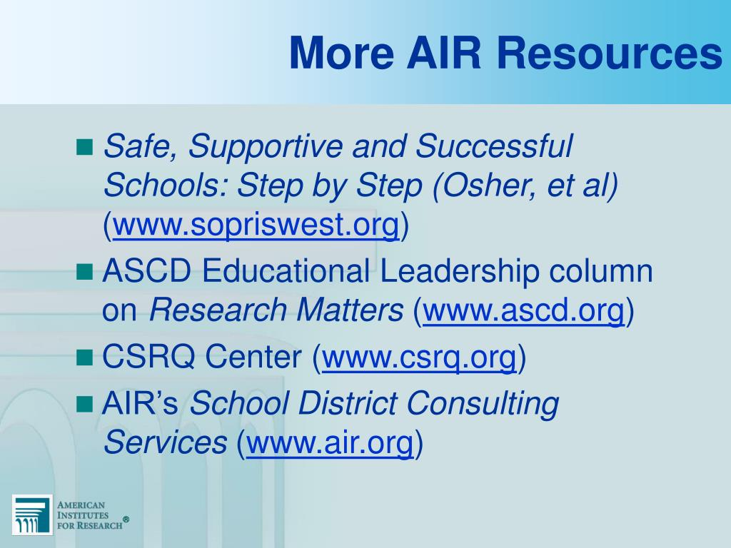 More AIR Resources