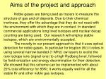 aims of the project and approach