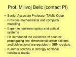 prof milivoj belic contact pi