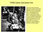 tamu qatar fast beam line