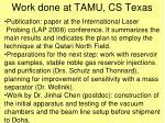 work done at tamu cs texas