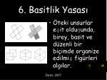 6 basitlik yasas