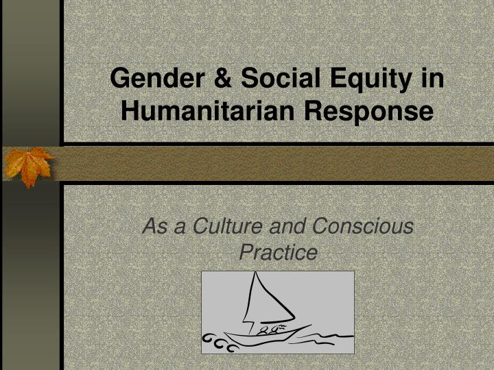 gender social equity in humanitarian response n.