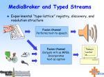 mediabroker and typed streams
