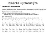 klasick kryptoanal za