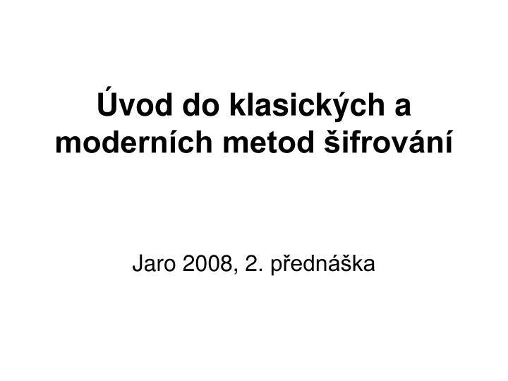 vod do klasick ch a modern ch metod ifrov n n.