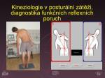 kineziologie v postur ln z t i diagnostika funk n ch reflexn ch poruch