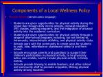 components of a local wellness policy15