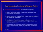 components of a local wellness policy17