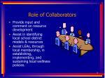 role of collaborators